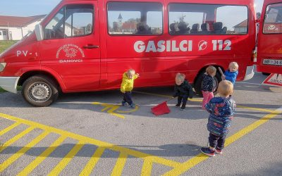 Obiskali so nas gasilci iz Banovec