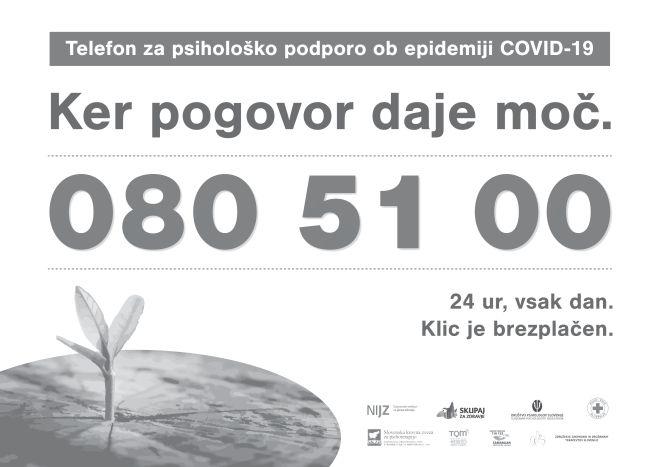 Telefon za psihološko podporo ob epidemiji COVID-19